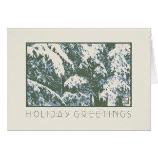 Cartão Bálsamos do artesão na neve