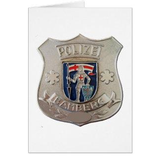 Cartão Bamberga Polizei