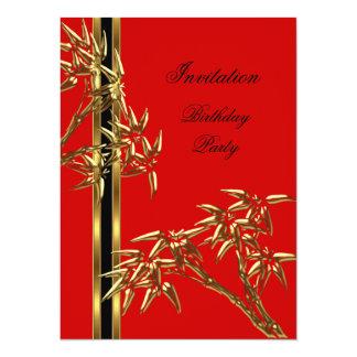 Cartão Bambu do asiático da bolsa mensageifesta de