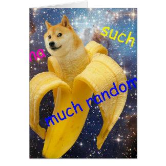 Cartão banana   - doge - shibe - espaço - uau doge