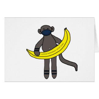 Cartão Bananas indo sobre você
