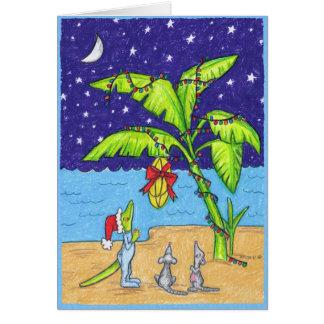 Cartão Bananas para o Natal