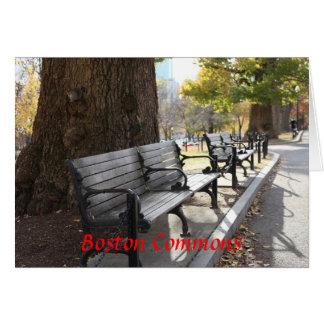 Cartão Banco de parque, terras comuns de Boston,