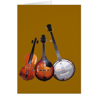Cartão Banda de Bluegrass filtrada