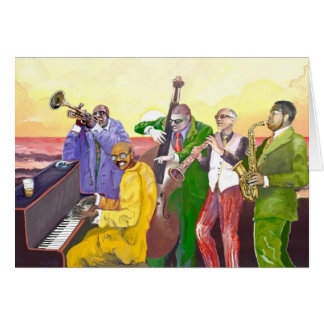 """Cartão """"Banda de jazz """""""