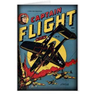 Cartão Banda desenhada da época dourada do capitão Vôo