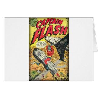 Cartão Banda desenhada da época dourada do vintage