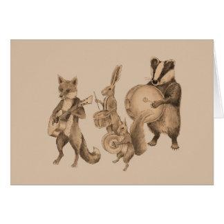 Cartão Banda dos animais