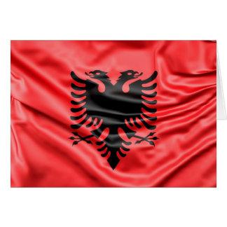 Cartão Bandeira albanesa