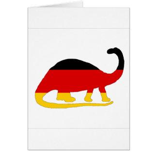 Cartão Bandeira alemão - Brontosaurus