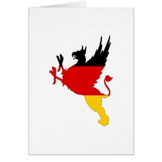 Cartão Bandeira alemão - grifo
