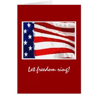 Cartão Bandeira americana