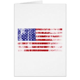Cartão Bandeira americana afligida