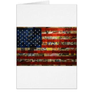 Cartão Bandeira americana América dos Estados Unidos da