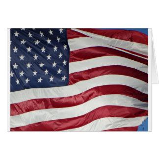 Cartão Bandeira americana, azul branco vermelho da