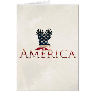 Cartão Bandeira americana com Eagle - patriotismo de