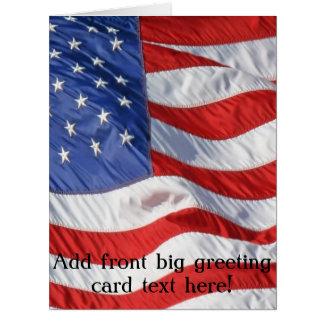 Cartão Bandeira americana de ondulação patriótica