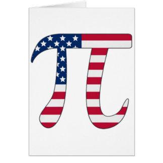 Cartão Bandeira americana do dia do Pi, símbolo do pi