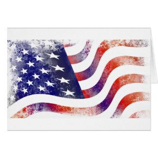 Cartão Bandeira americana do Grunge