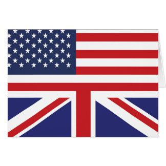 Cartão Bandeira americana inglesa 2