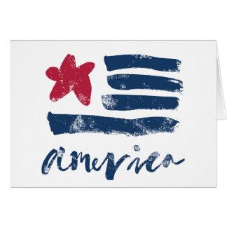 Cartão Bandeira americana Paintstrokes