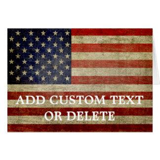 Cartão Bandeira americana resistida, afligida