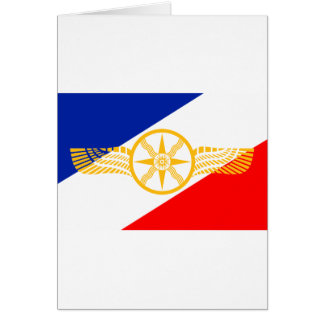 Cartão Bandeira Assyrian, bandeira Chaldean, bandeira de