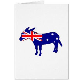 Cartão Bandeira australiana - asno
