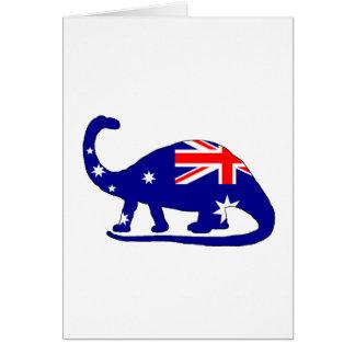 Cartão Bandeira australiana - Brontosaurus