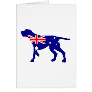 Cartão Bandeira australiana - Coonhound de Redbone