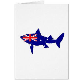 Cartão Bandeira australiana - tubarão