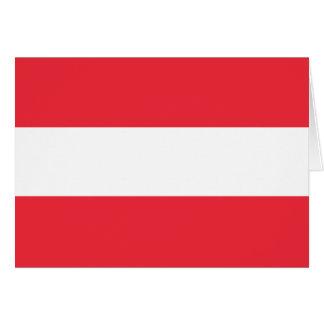Cartão Bandeira austríaca patriótica
