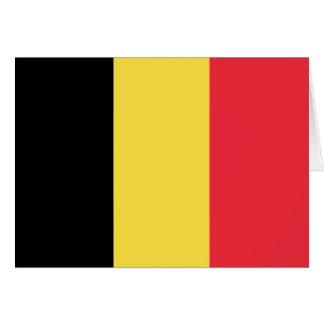 Cartão Bandeira belga patriótica
