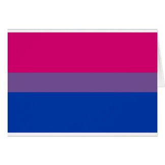 Cartão Bandeira bissexual do arco-íris do orgulho de LGBT