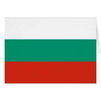Cartão Bandeira búlgara patriótica