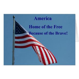 Cartão Bandeira, casa do livre!
