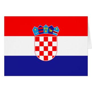 Cartão Bandeira croata patriótica