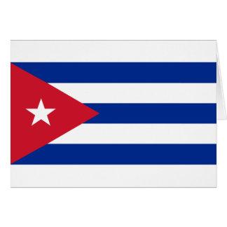Cartão Bandeira cubana - bandera Cubana - bandeira de