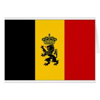Cartão Bandeira da bandeira do governo de Bélgica