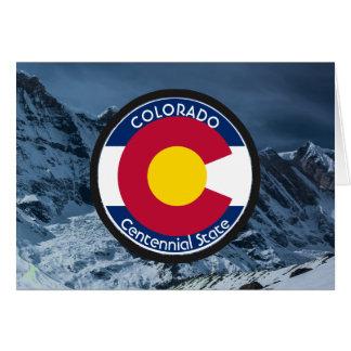 Cartão Bandeira da circular de Colorado