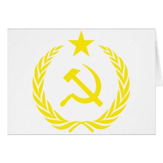 Cartão Bandeira da guerra fria de Communiste