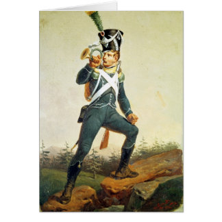 Cartão Bandeira da infantaria clara, 1811