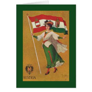 Cartão Bandeira da monarquia dupla (Áustria-Hungria)