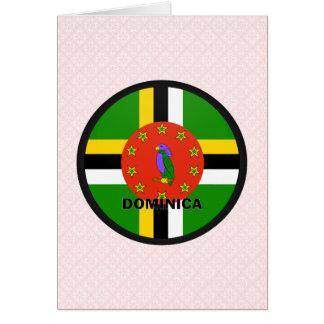 Cartão Bandeira da qualidade de Dominica Roundel