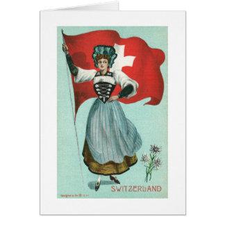 Cartão Bandeira da suiça