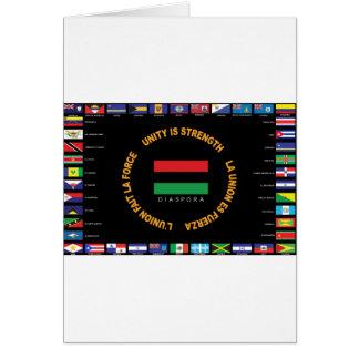 Cartão Bandeira das caraíbas da unidade do oficial