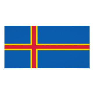Cartão Bandeira das ilhas de Aland