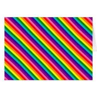 Cartão Bandeira das listras do original 8 do orgulho gay
