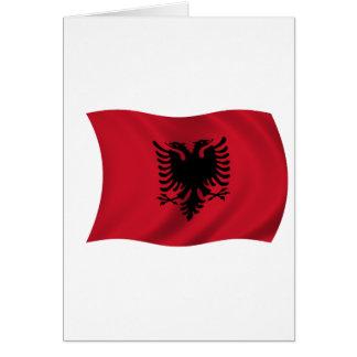 Cartão Bandeira de Albânia