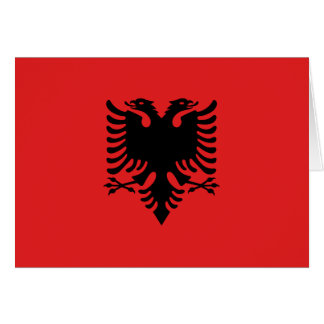 Cartão Bandeira de Albânia - Flamuri mim Shqipërisë